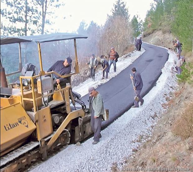 нема више асфалта за брда